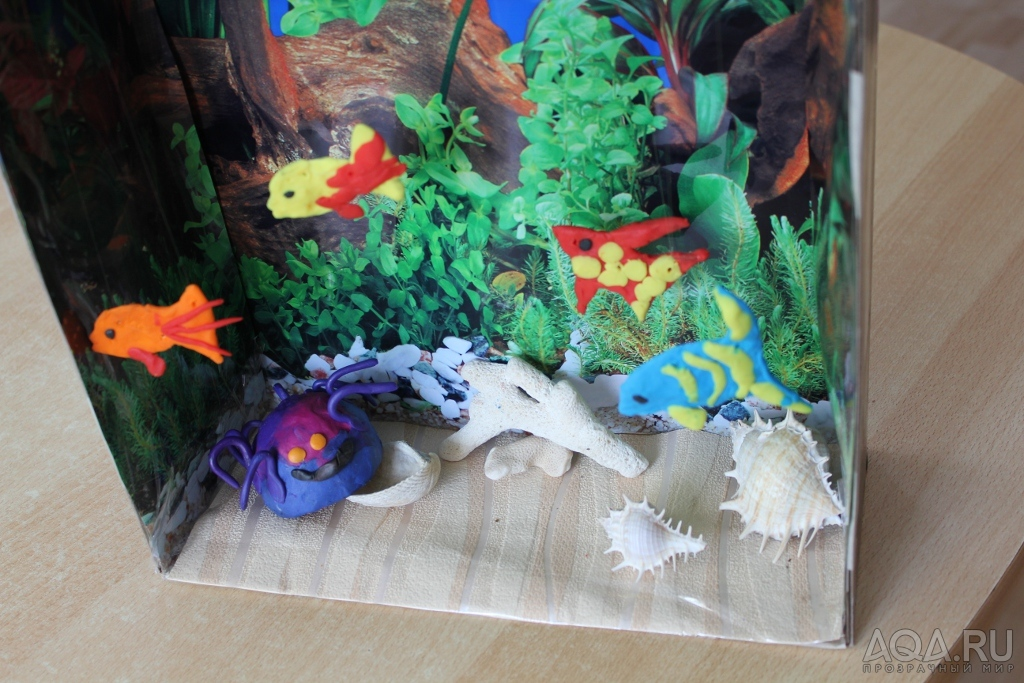 Как сделать аквариум с рыбами 573