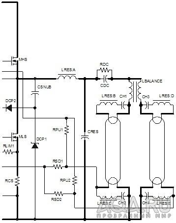 Схема выходно части ЭПРА 2