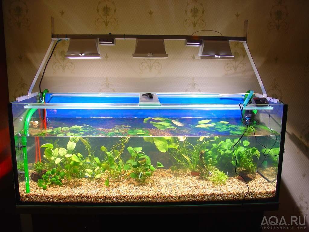 Как сделать освещение для аквариума своими руками