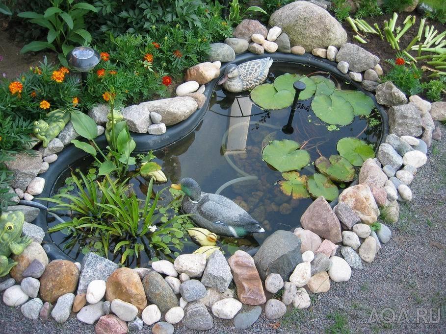 Как оформить садовый пруд своими руками