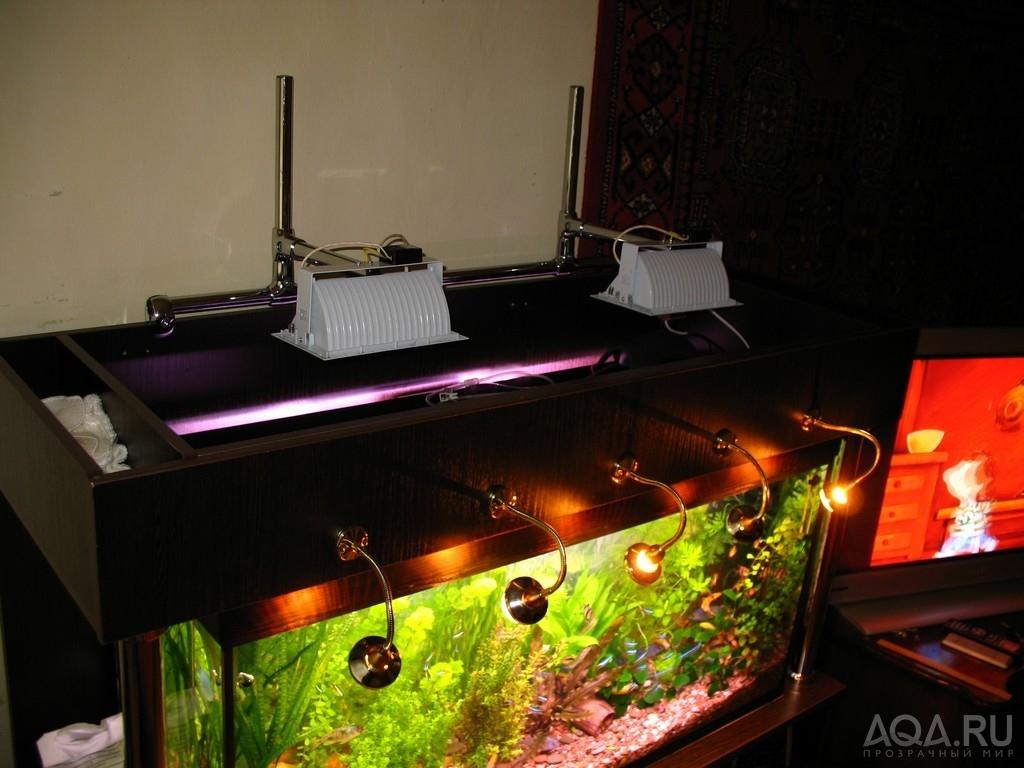 Навесной светильник для аквариума своими руками